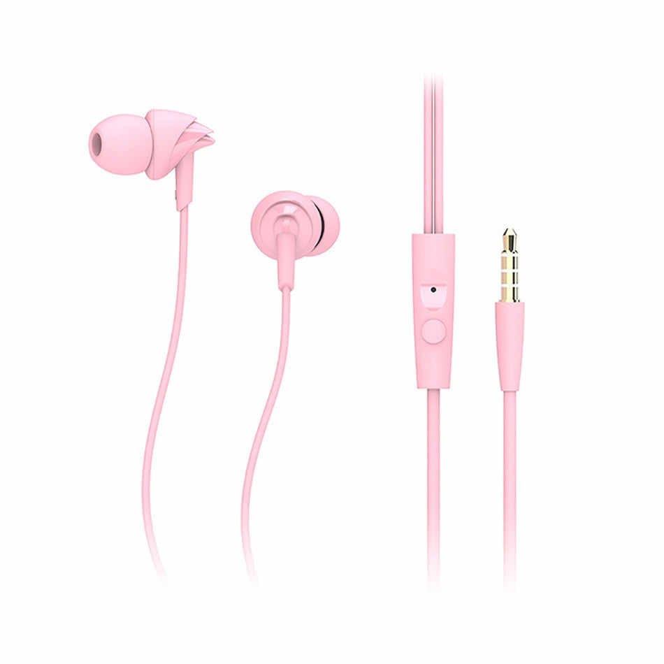 Rock Y1 Earphones with Mic~Pink