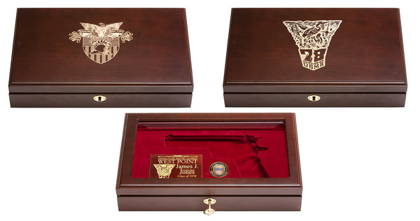 West Point Class of 1978 Reunion Pistol Display Case