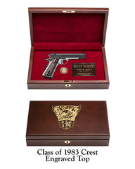 1983 Class Crest Engraved Solid Top Display Case