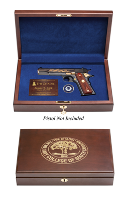 The Citadel Engraved Top Pistol Display Case