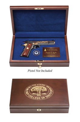 The Citadel Engraved Top Pistol Case