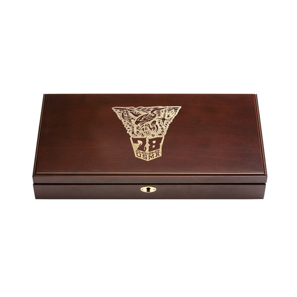 West Point Class of 1978 Class Dual Pistol Display Case - Engraved Top