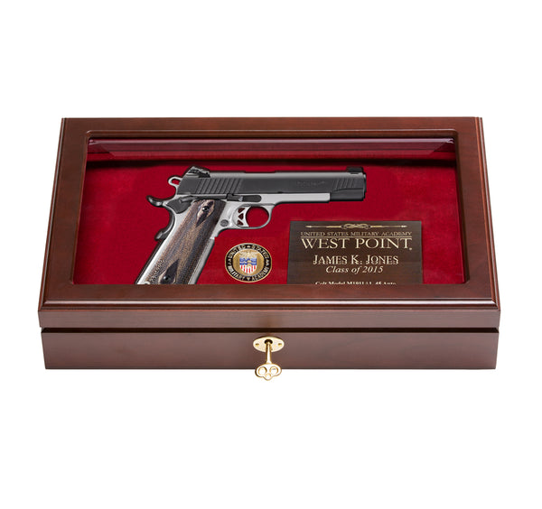 West Point Class of 1984 Class Pistol Display Case - Glass Top
