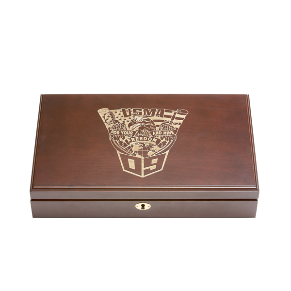 West Point Class of 2009 Class Pistol Display Case - Engraved Top