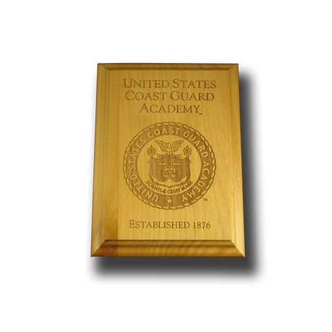 5x7 U.S. Coast Guard Academy Alder Wall Plaque