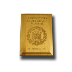 "5""x7"" U.S. Coast Guard Academy Alder Wall Plaque"