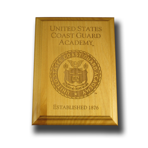 8x10 U.S. Coast Guard Academy Alder Wall Plaque