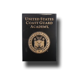 "7""x9"" Coast Guard Academy Black Wall Plaque"