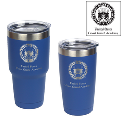 Coast Guard Academy Crest Laser Engraved Insulated Tumblers