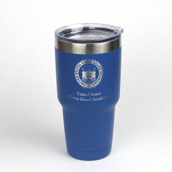 30 oz. Coast Guard Academy Crest Engraved Insulated Tumbler