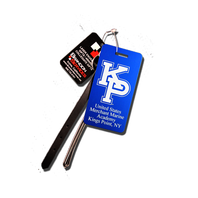 "USMMA ""KP"" Logo Small Luggage Tag."