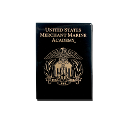 "6""x8"" Merchant Marine Academy Black Lacquer Wall Plaque"