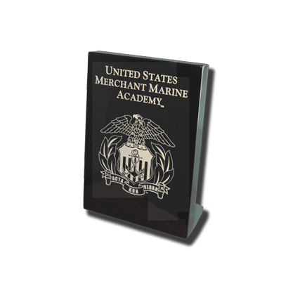 "7""x9"" Black USMMA  Desk Plaque"