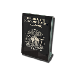 "7""x9"" Merchant Marine Academy Black Desk Plaque"