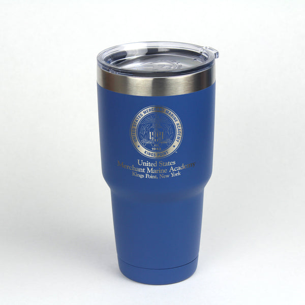 30 oz. Insulated engraved with the Merchant Marine Academy Crest