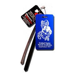"Navy ""Bill the Goat"" Large Luggage Tag"