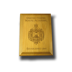 "5""x7"" Wood U.S. Naval Academy Wall Plaque"