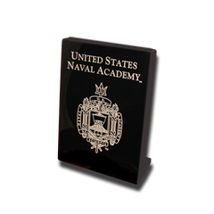 Naval Academy Crest 5x7 Plaque Stand-up - Black Lacquer