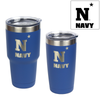 U.S. Naval Academy N-Star Logo Engraved on blue insulated tumblers