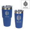 U.S. Naval Academy Crest engraved on Blue Insulated Tumblers