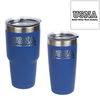 U.S. Naval Academy USNA Initials engraved on blue insulated tumblers