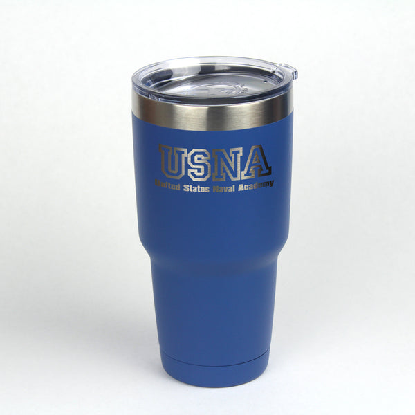 30 oz. Navy USNA Engraved Insulated Tumbler