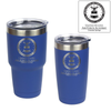 U.S. Air Force Academy Crest engraved in blue insulated tumblers