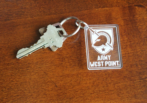 Army West Point And Shield Acrylic Key Chain