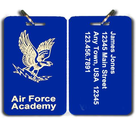 Air Force Academy Parents Club Special Small Luggage Tag