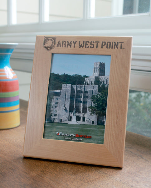 Army West Point engraved picture frame