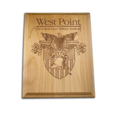 8x10 West Point Alder Award Plaque