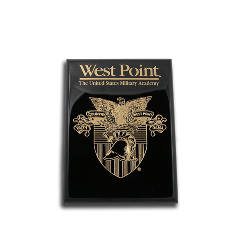 6x8 West Point Black Piano Finish Award Plaque