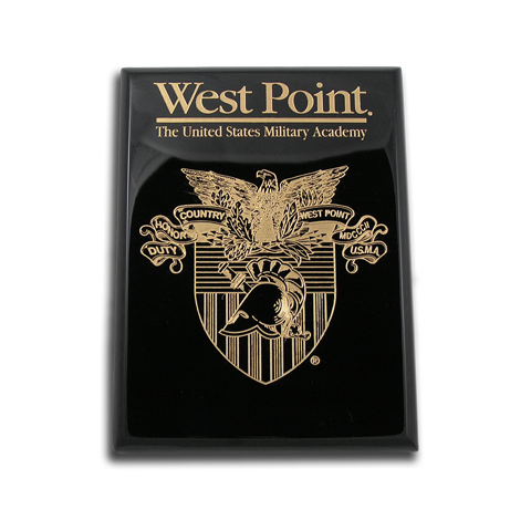 8x10 West Point Black Piano Finish Award Plaque