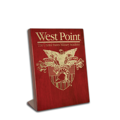 "5""x7"" West Point Rosewood Piano Finish Desk Plaque"