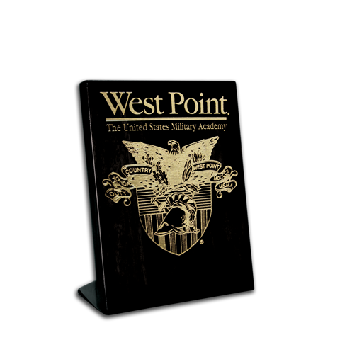 5x7 West Point Black Piano Finish Free-Standing Award Plaque