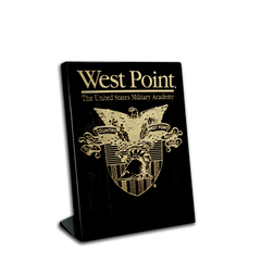 "5""x7"" West Point Crest Black Piano Finish Desk Plaque"