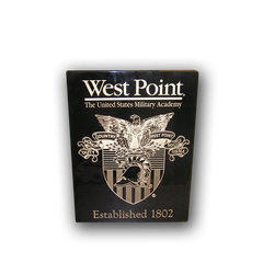 "5""x7"" West Point Crest Black Piano Finish Plaque With Established Date"