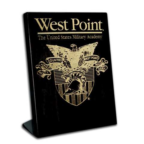 7x9 West Point Black Piano Finish Free-Standing Award Plaque