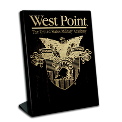 "7""x9"" West Point Black Piano Finish Free-Standing Award Plaque"