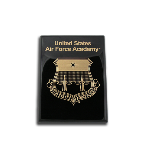 6x8 Air Force Academy Black Piano Finish Award Plaque