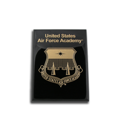 "6""x8"" Air Force Academy Black Piano Finish Award Plaque"