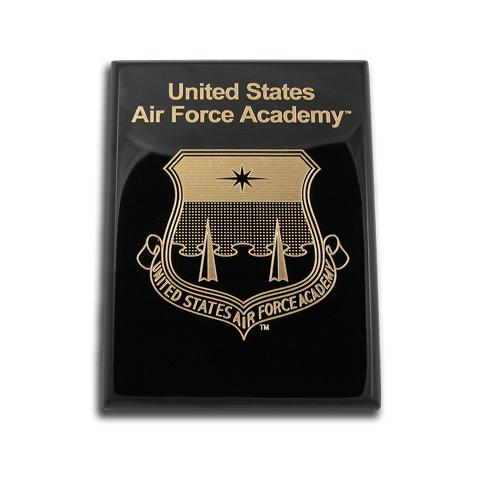 8x10 Air Force Academy Black Piano Finish Award Plaque