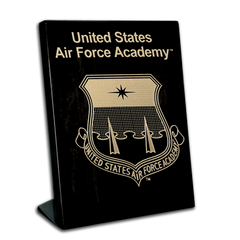 "7""x9"" Air Force Academy Black Piano Finish Free-Standing Award Plaque"