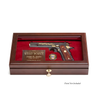 West Point Class Pistol Custom Display Case with beveled glass top open