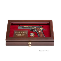 West Point Class Pistol Display Case - Glass Top