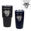 West Point Crest Custom Engraved Black Insulated Tumblers
