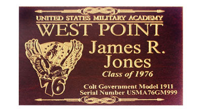 Custom Replacement Placard for Class Pistol Display Case