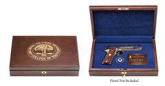 The Citadel Class of 1981 40th Class Reunion Pistol Display Case - Engraved Top