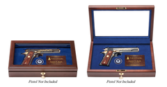 The Citadel Class of 1981 40th Class Reunion Pistol Display Case - Glass Top