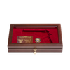 West Point Class of 1986 Class Pistol Display Case - Glass Top Closed